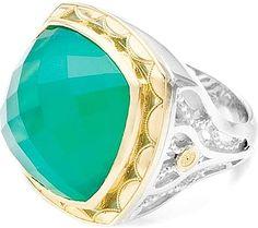 Tacori 18k925 Green Onyx Ring- since1910.com