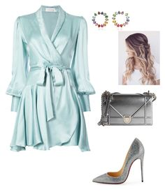 """""""Untitled #885"""" by lovelifesdreams on Polyvore featuring Zimmermann, Christian Louboutin and Christian Dior"""