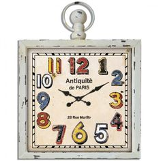 Vintage Μεταλλικό Ρολόι Τοίχου Αntiquites Μπέζ Αντικέ 60x80 cm | Echo Deco