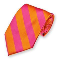 pink & orange neck tie!!