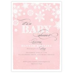 Little Snowflake Baby Shower Invitation Winter by DearHenryDesign ...