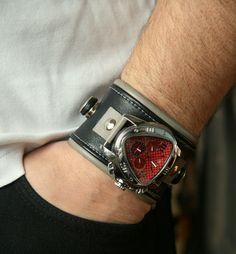 """Men's Wrist watch  leather bracelet """"Leader-2"""""""