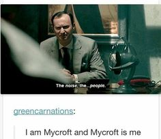 I wish I were as cool -and powerful - and knowledgeable - and clever as Mycroft. I like him better than Sherlock. Mycroft is a grown up. Sherlock is a rude spoiled kid who needs a spanking. Sherlock Bbc, Sherlock Fandom, Funny Sherlock, Benedict Cumberbatch Sherlock, Sherlock Quotes, Sherlock Books, Sherlock Comic, Sherlock Tumblr, Sherlock Poster