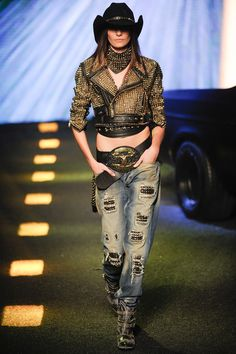 Philipp Plein | Fall/Winter 2014 Ready-to-Wear Collection | Modeled by Muriel Beal | February 23, 2014; Milan, Italy