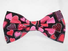 Decorated Hearts Pre-tied Bow Tie  by BowTieExpressions on Etsy