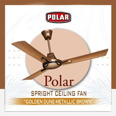 Polar Spright Ceiling Fan in metallic colours to enhance the beauty of your interior. Electricity Consumption, Metallic Blue, Metallic Colors, 3 Blade Ceiling Fan, Canopy Design, Contemporary Design, Colours, Interior