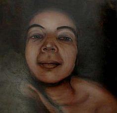Barbara Farina, Ermione oil painting on wood