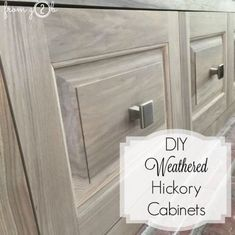 Best Gray Stained Washed Hickory Cabinets House Grey 400 x 300