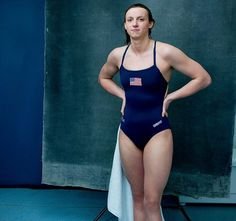 Here she is photographed by Annie Leibovitz, Vogue, April 2016 ❤ #katieledecky #annieleibovitz Katie Ledecky kind of and slowly becoming my muse  #swimmer #champion #thegreat #vogue