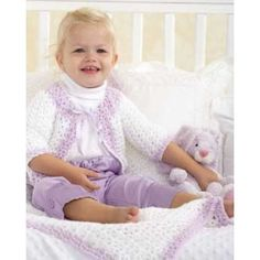 baby-jacket-and-blanket-set-free-crochet-patterns