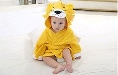 ONLY BABY Cuddly Baby Lion Hooded Towel Bath Robe 010 Months Yellow -- Details can be found by clicking on the image.-It is an affiliate link to Amazon.