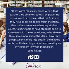 Find out how to create an empowering environment for students. Listen to this podcast for strategies. Student Voice, Family Engagement, Educational Leadership, Learning Environments, Professional Development, First Step, Classroom Management, School Ideas, Behavior