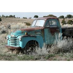 Old Chevy Farm Truck in the Field http://www.SeedingAbundance.com…