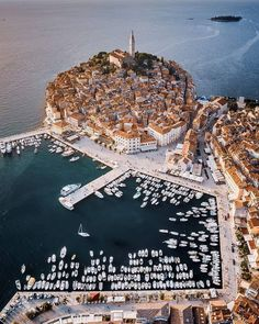 The Coastal City Of Rovinj, Croatia Beautiful Places To Travel, Wonderful Places, Beautiful World, Magic Places, Places To Visit, Places Around The World, Around The Worlds, Rovinj Croatia, Beaux Villages