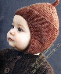Knitted hat pattern for little one. Baby Hats Knitting, Knitting For Kids, Knitted Hats, Knitting Designs, Knitting Projects, Crochet Projects, Crochet Baby, Knit Crochet, Handmade Baby