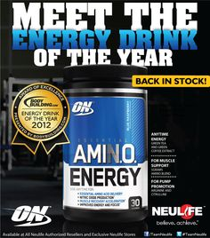 ON Essential Amino Energy Product Ads, Green Coffee Extract, Amino Acids, Energy Drinks, Essentials, Muscle, Healthy, Food, Hoods