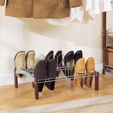 Found it at Wayfair - Espresso 9 Pair Shoe Rack