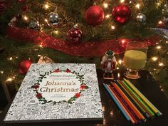 A colorear la Navidad 🎄 Johanna Basford 🙂 13/12/16
