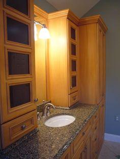 Bathroom Cabinet With Built in Laundry Hamper HGTVRemodelscom