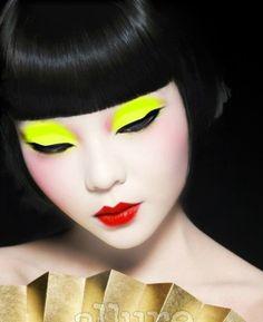Modern Geisha – Beauty and Make Up Makeup Art, Beauty Makeup, Hair Makeup, Hair Beauty, Makeup Style, Eyeshadow Makeup, Makeup Ideas, Eyeliner, Make Up Looks