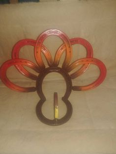 Large Horseshoe Thanksgiving fall Turkey decoration center piece knapkin holder or just decoration holiday decor