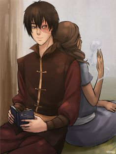 "nymre:    ""Do you really want me to read it to you again?""  Zuko and Katara"