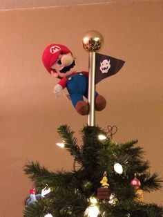 Mario tree topper that my husband made! Love it!
