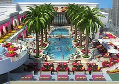 Party Drai S Beachclub Pool On The Rooftop Of Cromwell Las Vegas Hotel