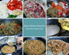 Spicy Chicken Gizzards is a fantastic dish for a Friday evening over a couple of beers ; Chicken Gizzards, Palak Paneer, Spicy, Dishes, Ethnic Recipes, Food, Tablewares, Eten, Flatware
