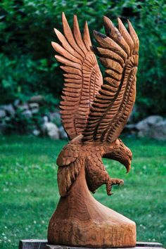 eagle chainsaw carving - Google Search