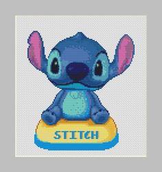 Cute Stitch Cross Stitch Pattern in PDF for Instant Download