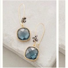 Nwt Anthropologie Camelot Drop Earrings