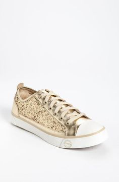 Glitter UGG sneakers in champagne
