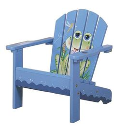 Painted Chairs Ideas | Froggy Outdoor Kids Chair   Kids Decorating Ideas