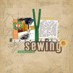 cc sew Digital Scrapbook Layout