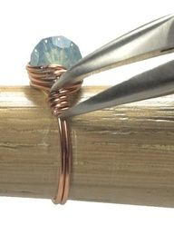 Make a wire-wrapped bead ring crafts