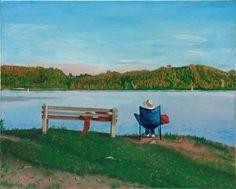 Marsh Creek West Shore Sunset in October by Phillip Compton $200.00