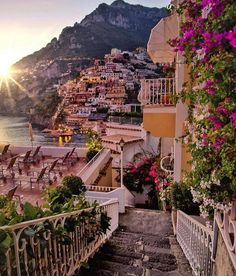 Evening in Positano,Italy . Positano is a cliff side Village on Italy's Amalfi Coast -By Italy-Landscape & art Places Around The World, The Places Youll Go, Places To Go, Italy Places To Visit, Familienfreundliche Hotels, Destination Voyage, Travel Aesthetic, Travel Goals, Travel Hacks