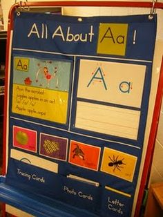 DIY this pocket chart using Letterland character poem and vocab cards