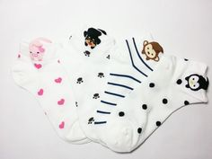 4 pairs Cute Women and Girls's Animal fashion casual Color - socks #TC #FashionCasual