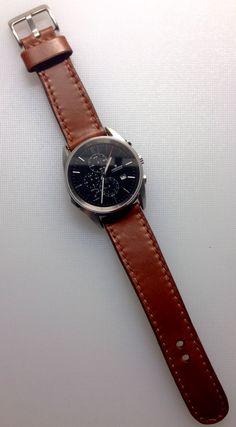 Handmade leather a watch strap by Brano Klocan LEATHERCRAFT  Ručne šitý kožený remienok na hodinky Leather Craft, Watches, Travel, Clothes, Accessories, Leather Crafts, Tag Watches, Viajes, Clothing Apparel