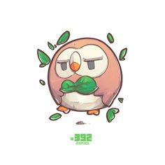 ArtStation - #392 Rowlet from Pokemon Sun Moon, Jr Pencil