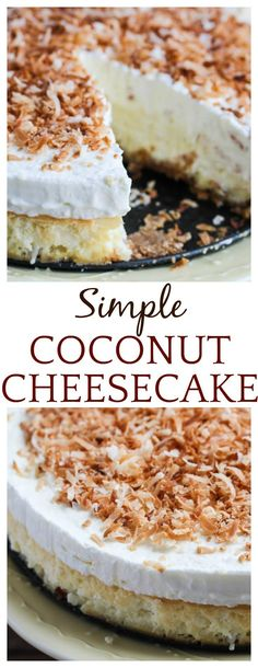Coconut Cheesecake | Posted By: DebbieNet.com