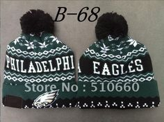 Mens   Womens Philadelphia Eagles New Era NFL Sports Weather Advisory  Cuffed Knit Pom Pom Beanie Cap - Green   Black be68301ce83