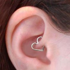 Wired Heart Ear Piercing for Tragus Piercing Ideas at MyBodiArt