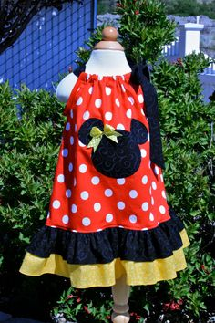 Minnie Mouse Pillowcase dress by EllieJayneDesigns on Etsy, $35.00