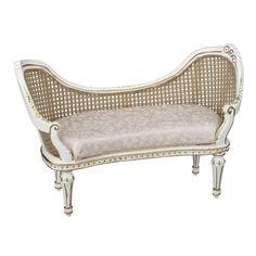 White Cane Chaise Lounge