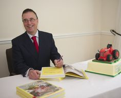 Renowned tractor expert & author Stuart Gibbard at the launch of The David Brown Tractor Story, Part Two www.oldpond.com