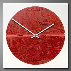 Recycled circuit Board Wall clock
