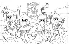 Printable Lego Ninjago Coloring Pages